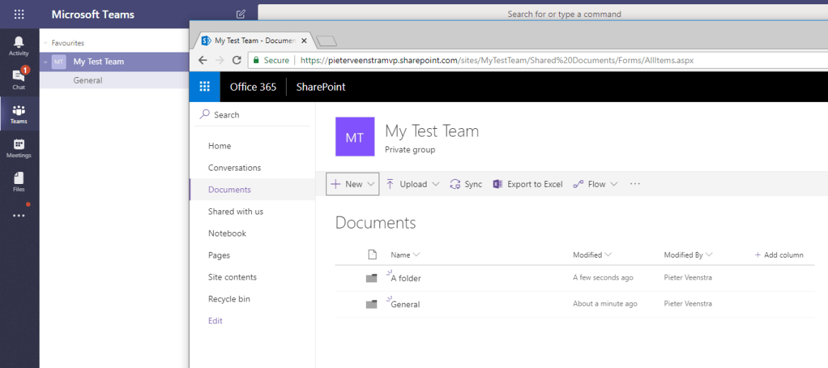 Folders and channels in SharePoint