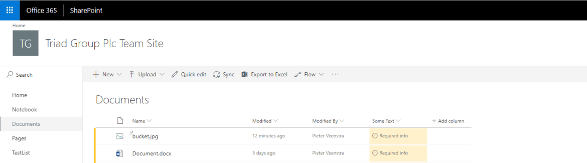 SharePoint Attention Views