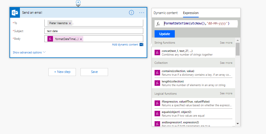formatDateTime in Power Automate