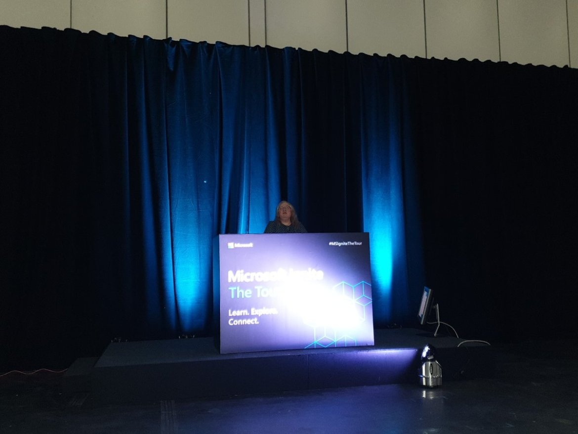 Penny Coventry at the Microsoft Ignite the tour
