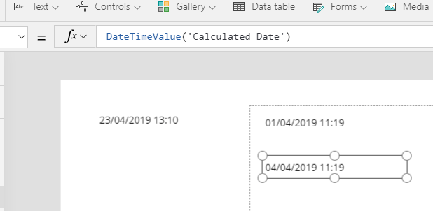 Date Time Value