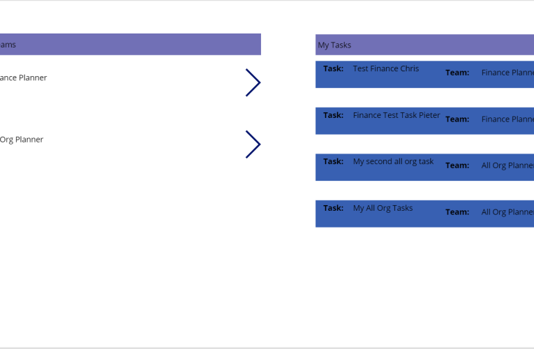 Aggregate all tasks from your plans in Planner and PowerApps
