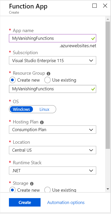 A Function App in Azure