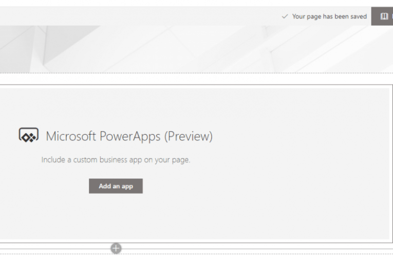 App not appearing in PowerApps web part with new app url