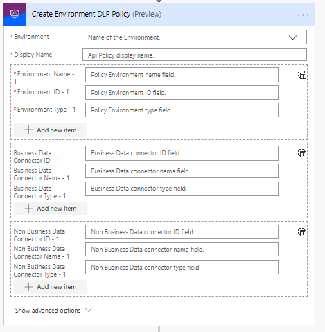 Create DLP Environment Policy