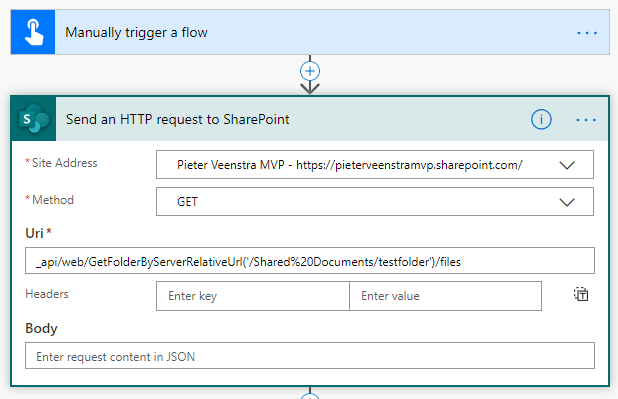 Get all files in a SharePoint folder using Power Automate