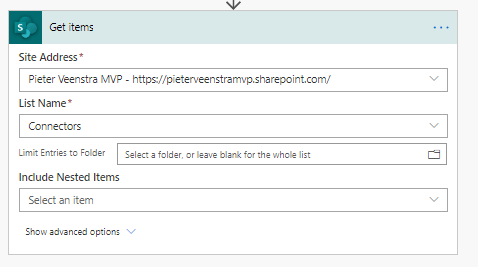 2 New filter options in Get Files action in SharePoint connector 1