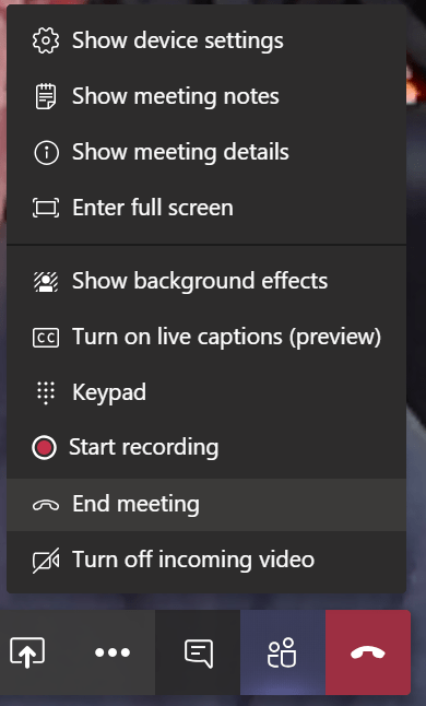 different user experience in Microsoft Teams meeting