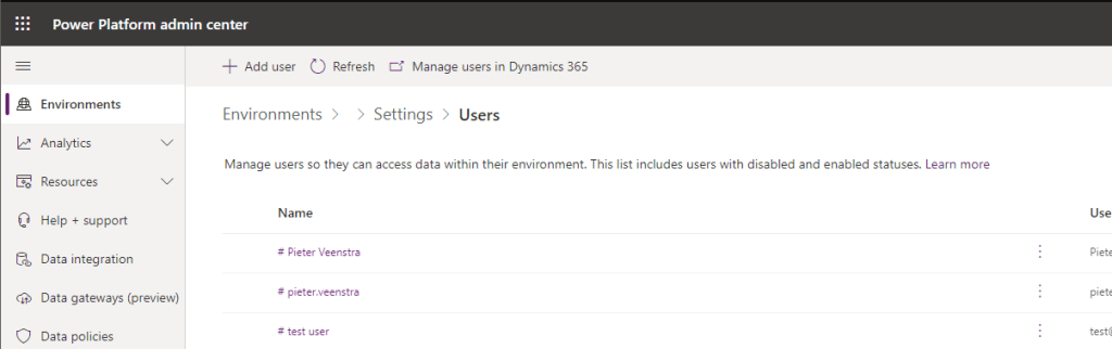 Security and Common Data Services/Dynamics 365 3