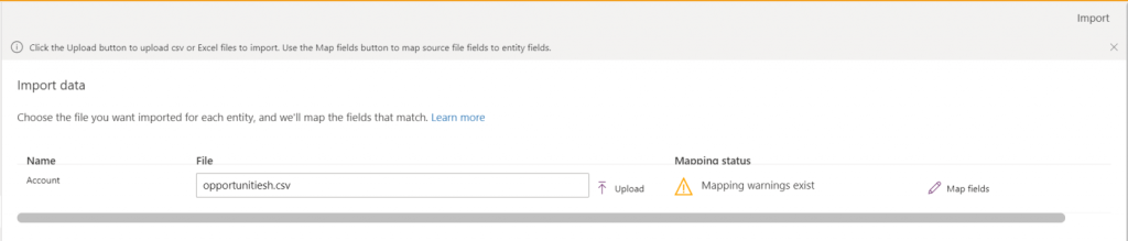 Export data and import it in Dynamics 365 4