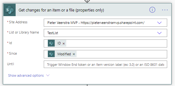 Get changes for an item or a file (properties only)