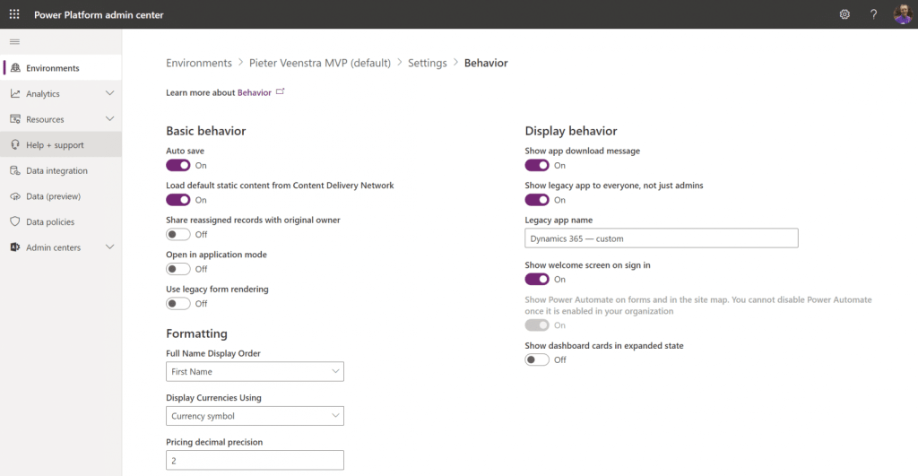 Advanced settings not loading in Power Platform Microsoft Power Platform