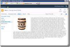 The corrected article page showing the TNT barrel