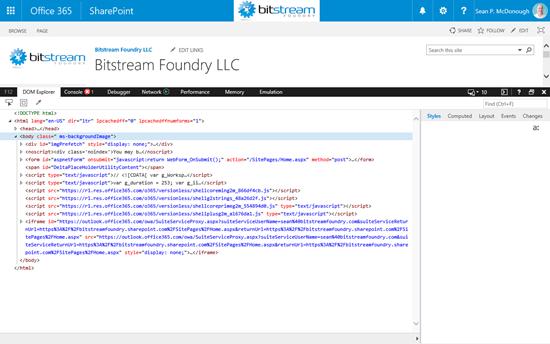 Internet Explorer F12 Developer Tools
