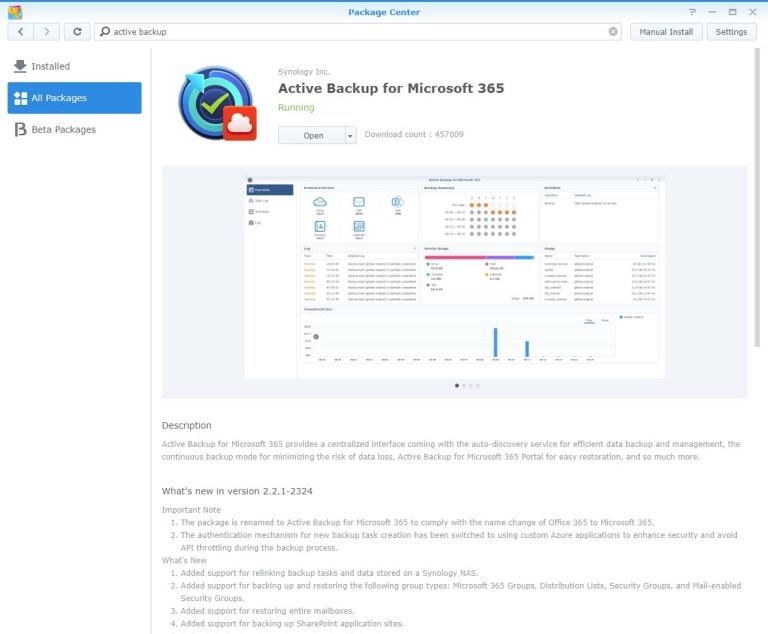 Active Backup for Microsoft 365