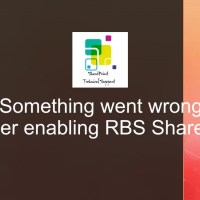 Something went wrong after enabling RBS