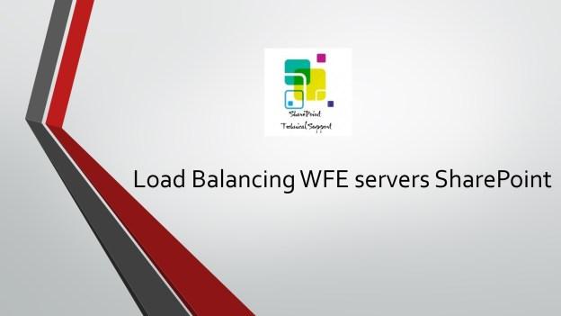 load balancing WFE servers sharepoint 1920x1080