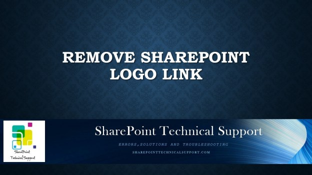 remove sharepoint logo link