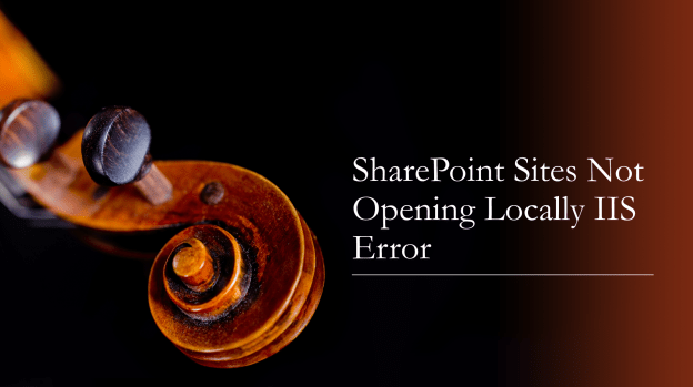 SharePoint sites not opening