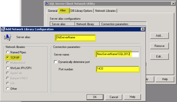 alias configuration
