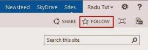 Follow SharePoint Site