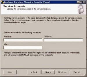 service account sqlmirror mirror