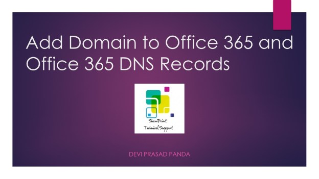 Add domain office 365_office 365 dns records