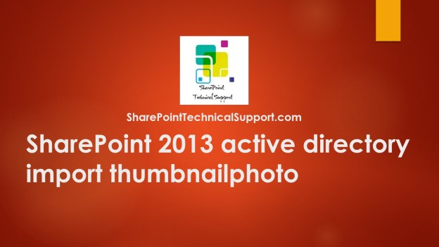 active directory profile picture import thumbnailphoto