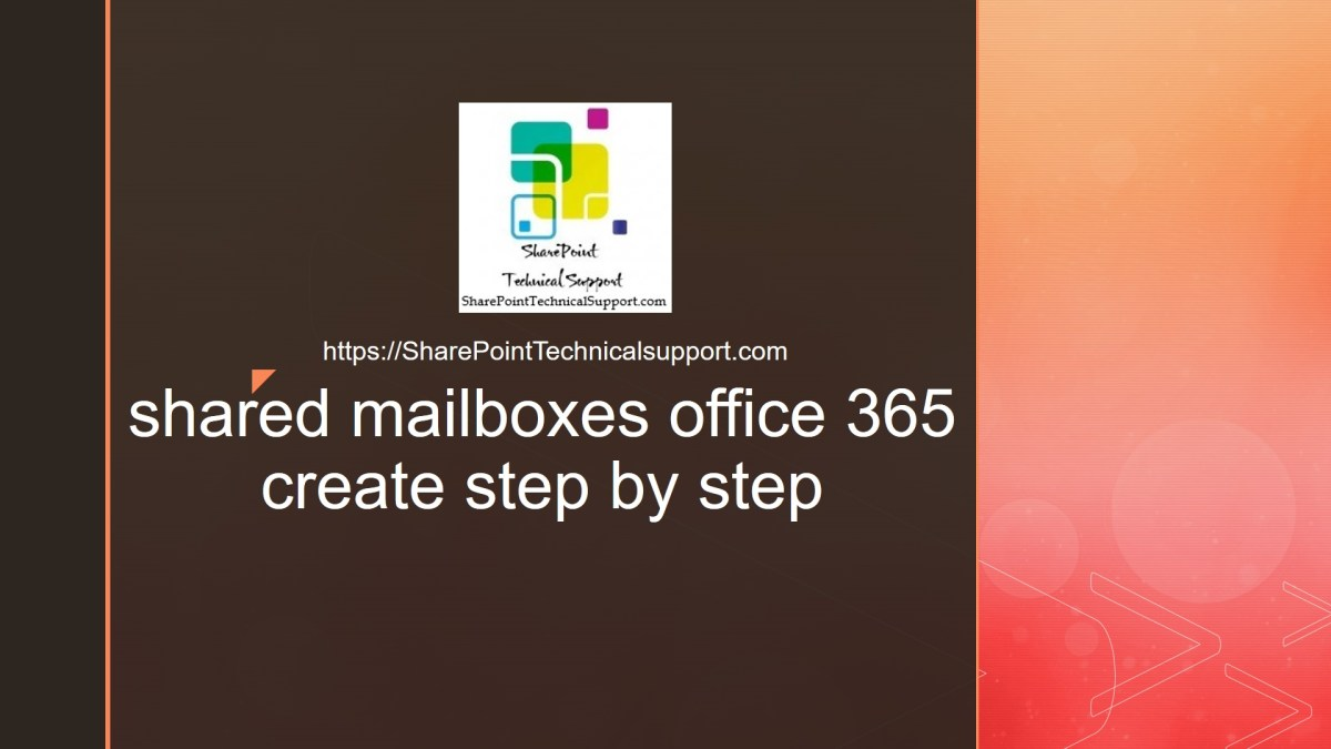 shared mailboxes office 365 create