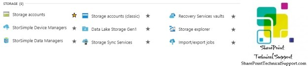 Azure Services Storage