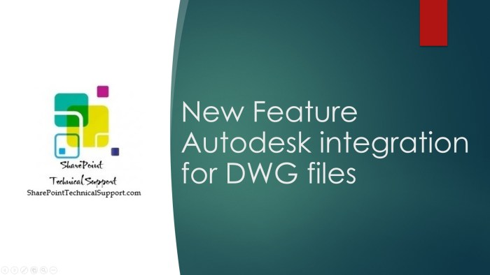 By the New Feature Autodesk integration for DWG files users will see actions available on the command bar and pop-up menus to open DWG files in AutoCAD (web app) in OneDrive for Business and SharePoint Online.