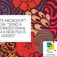 Create Microsoft Flow Power Automate in sharepoint online