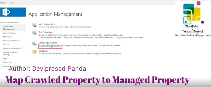 manage service applications under service applications