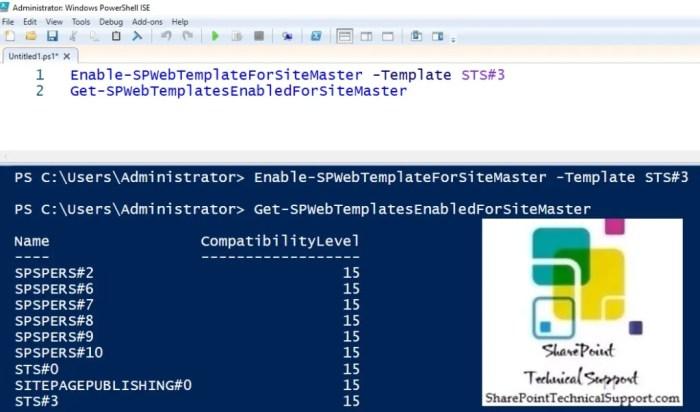 Enable-SPWebTemplateForSiteMaster