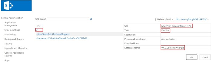 restored root site collection sharepoint