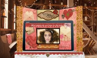 Share the Joy! Kiosk Valentine's Barn Wedding