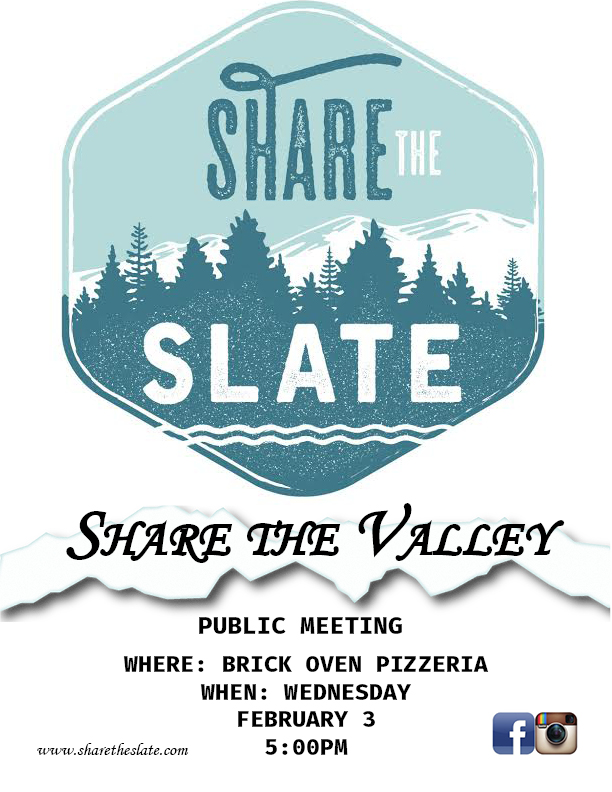 Share the Slate Public Meeting