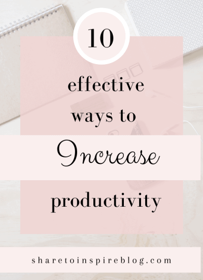 How to increase productivity pinterest pin