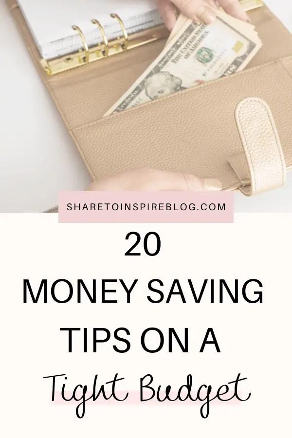 20 money saving tips pinterest pin