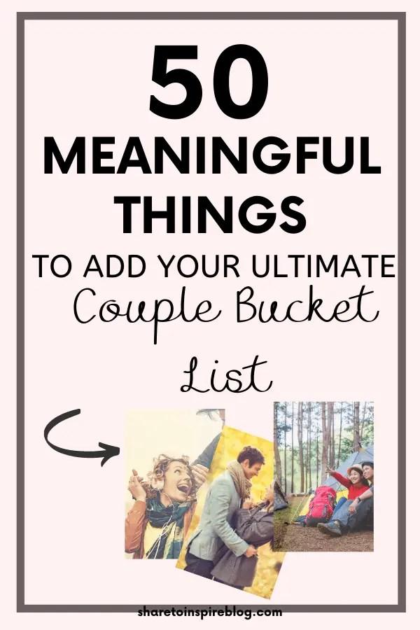 ULTIMATE COUPLES BUCKET LIST PINTEREST PIN