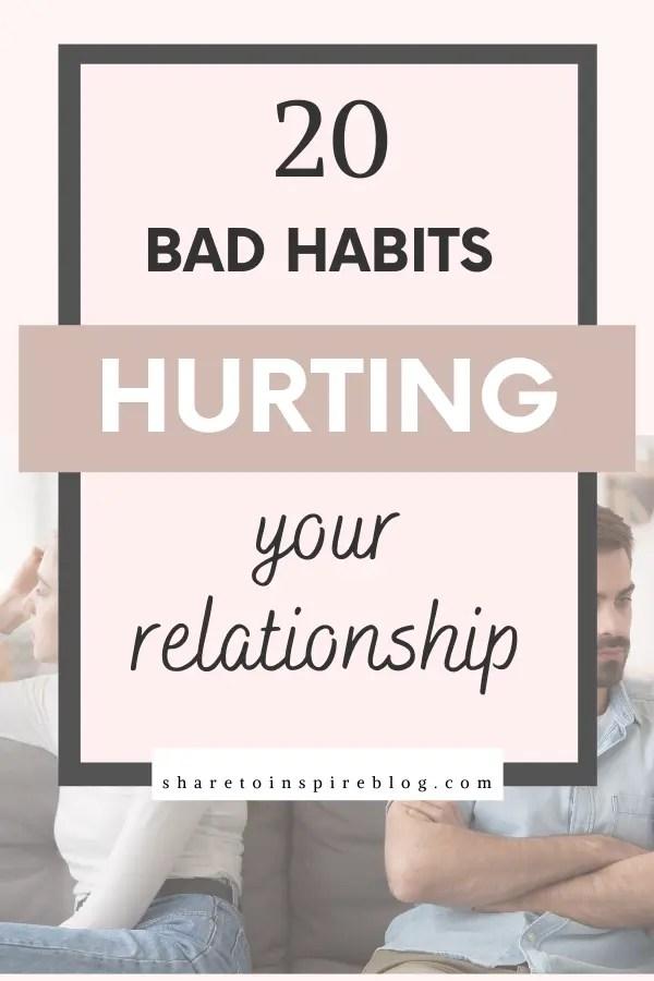 bad relationship habits to break pinterest pin