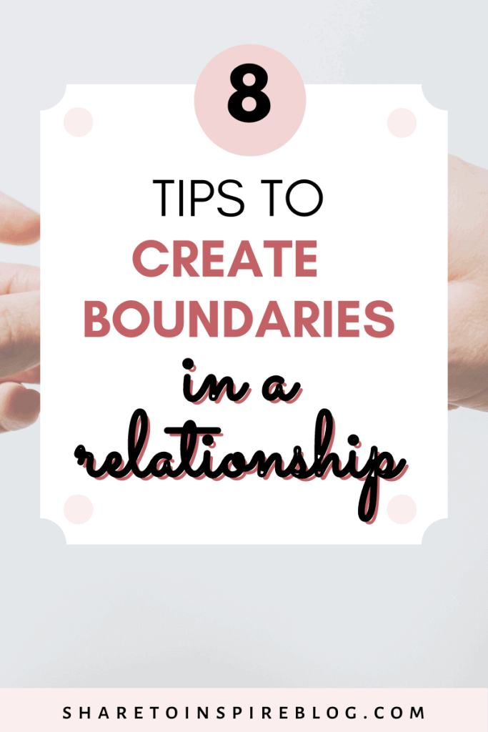 how to set healthy boundaries in a relationship pinterest pin
