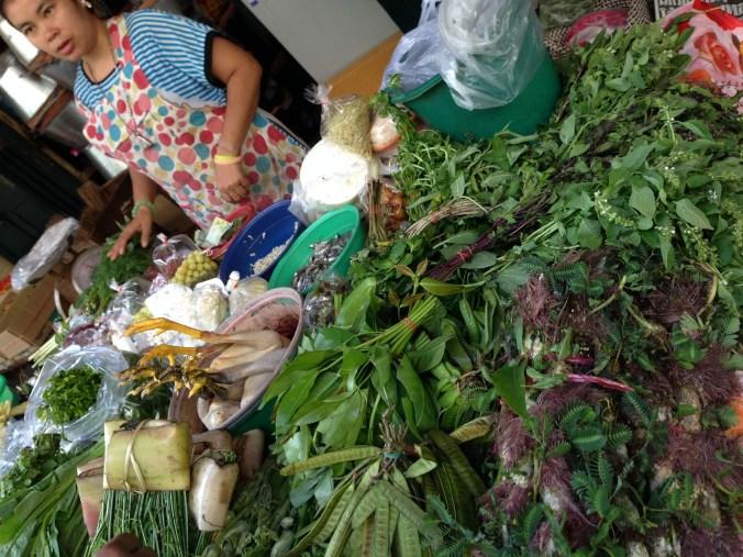 Fresh food at outdoor market