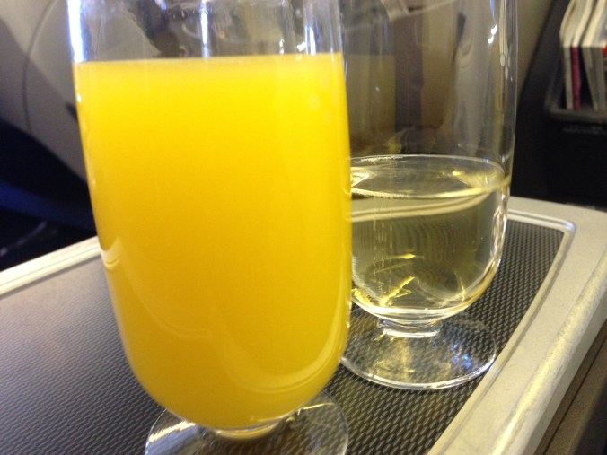Mimosas after boarding