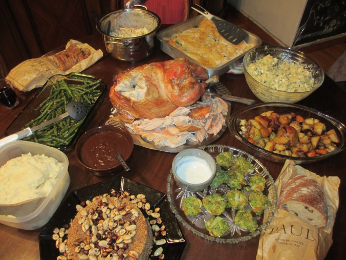 Shared Thanksgiving meal in Egypt