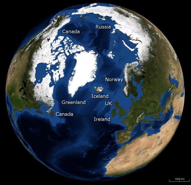 Iceland-globe-map