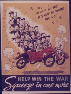 ridesharing war effort