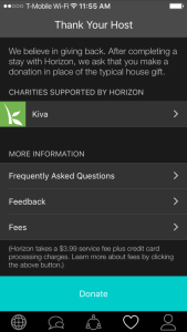 Horizon app donations