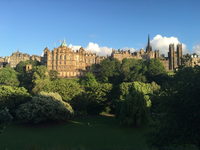 Edinburgh is filled with gorgeous buildings and lots of green parks