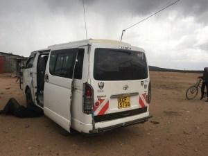 Quick repair stop on the way to Massai Mara